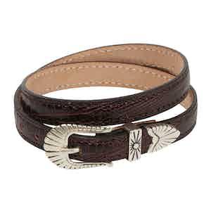 Dark Brown Leather Navajo Bracelet