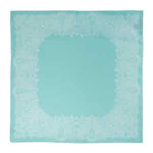 Turquoise Sea Urchin Silk Pocket Square