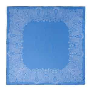 Blue Sea Foam Silk Pocket Square