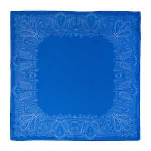 Deep Blue Jellyfish Silk Pocket Square