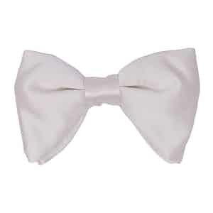 White Silk-Satin Butterfly Bow Tie