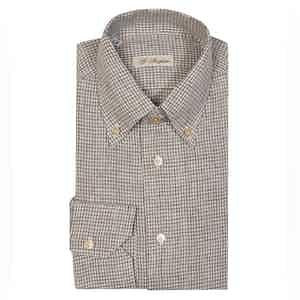 Brown Linen Anacapri Vichy Shirt