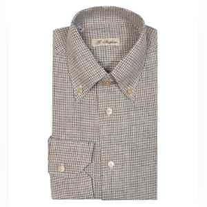 Brown Linen Anacapri Vichy Shirt