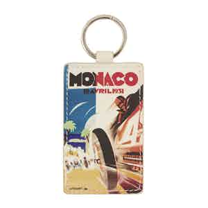 White Leather Historic Monaco Grand Prix 1931 Keyring