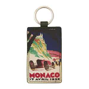Navy Leather Historic Monaco Grand Prix 1932 Keyring