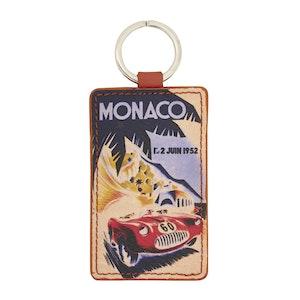 Terracotta Leather Historic Monaco Grand Prix 1952 Keyring