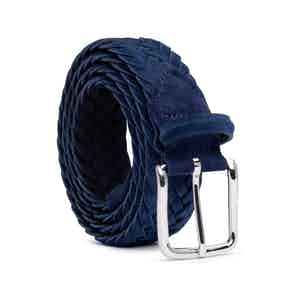 Blue Braided Suede Belt Emiliano