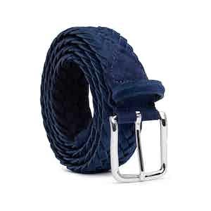 Blue Braided Suede Belt Emiliano