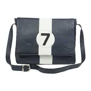 Blue Leather Official 7 Moss Messenger Bag