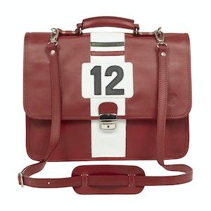 Red Leather Ferrari-Inspired Lauda Document Case