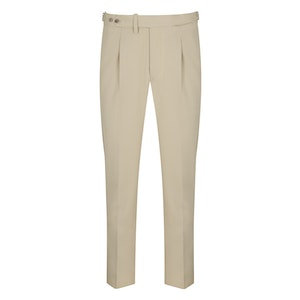 PML by Pommella Napoli Cream Pleated Wool Trousers