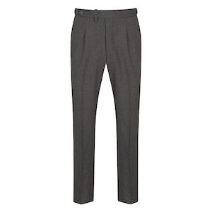 PML by Pommella Napoli Dark Grey Pleated Wool Trousers