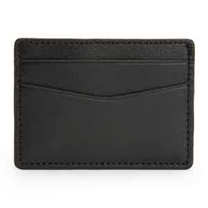 Grey Pebbled Leather Blake Card Holder