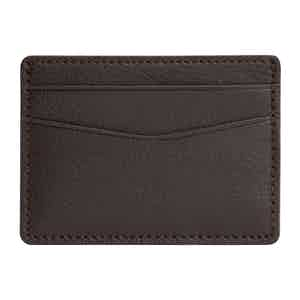Brown Pebbled Leather Blake Card Holder