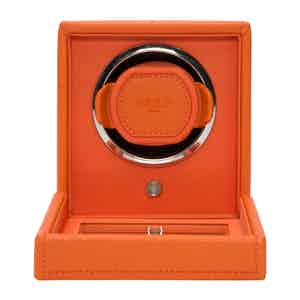 Orange Leather Cub Winder with Cover