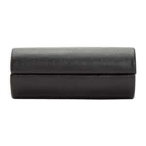 Black Leather Howard 2-Piece Cufflink Box