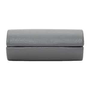 Grey Leather Howard 2-Piece Cufflink Box