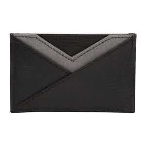 Black Leather Howard Card Wallet