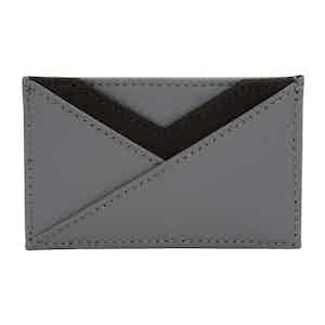 Grey Leather Howard Card Wallet