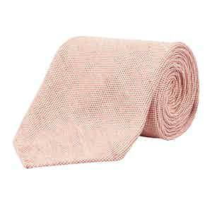 Giles Red Made-to-Measure Linen Tie