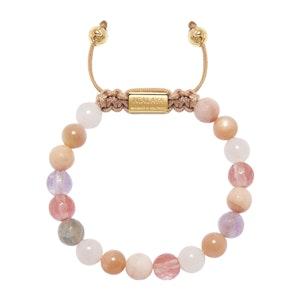 Cherry Quartz, Rose Quartz, Amethyst Lavender and Pink Aventurine Women's Wristband
