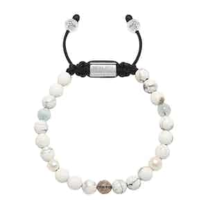 Howlite, Labradorite, Fresh Sea Pearl and Aquamarine Women's Beaded Bracelet