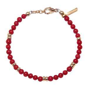 Red Jade Capri Collection Women's Beaded Bracelet