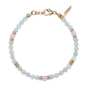 Amazonite and Amethyst Lavender Capri Collection Women's Beaded Bracelet