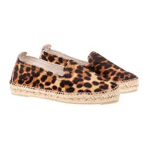 Leopard Leather D Dakota Espadrilles