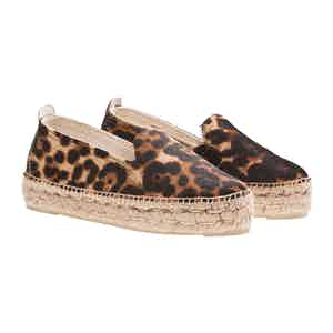 Leopard Leather Dakota Espadrilles
