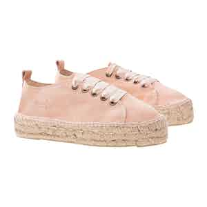 Rose Pink Suede Hamptons Sneakers