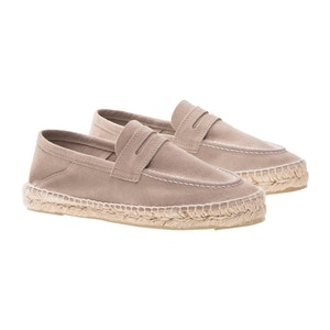 Taupe Grey Suede Hamptons Loafers