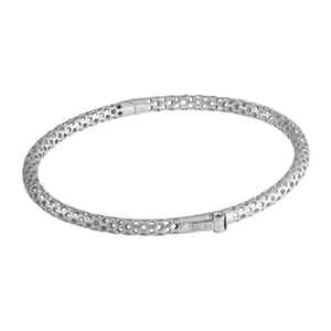 Esagoni Hexagonal 18k White Gold Bracelet