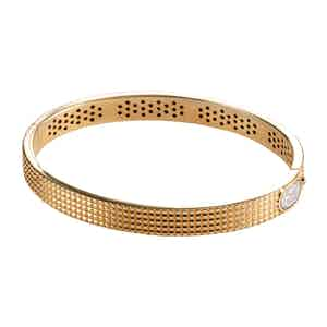 Roma Guilloche 18k Rose Gold Bracelet