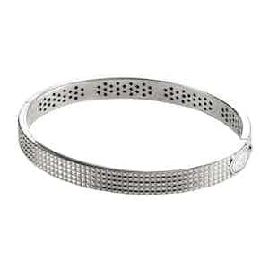 Roma Guilloche 18k White Gold Bracelet