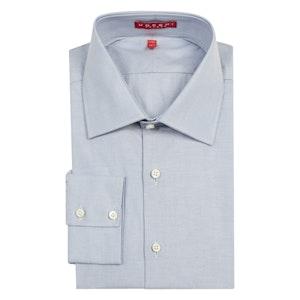 Blue Swiss Cotton Poplin Oxford Shirt