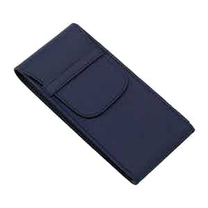 Navy Blue Leather Watch Pouch