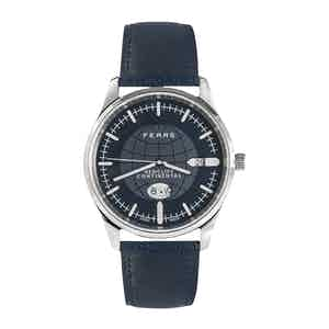 Redcliff Continental Fears Blue Watch with Fears Blue Goat's Leather Strap