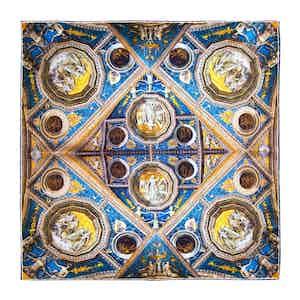 Blue Palazzo Colonna Silk Pocket Square