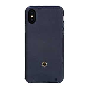 Prussian Blue Bird's Eye Knit Wool iPhone X/Xs Case
