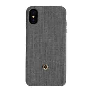 Oyster Grey Herringbone Knit Wool iPhone X/Xs Case