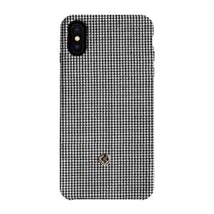Black and White Houndstooth Knit iPhone X/Xs Case