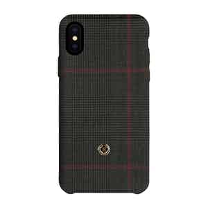 Purple Prince of Wales Check Wool iPhone X/Xs Case