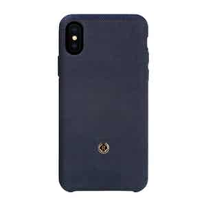 Prussian Blue Bird's Eye Knit iPhone Xs Max Case