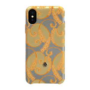 Light Blue and Gold of Florence Silk iPhone Xs Max Case