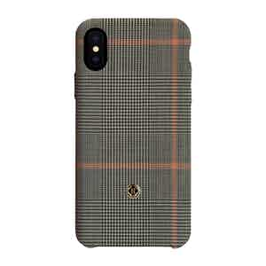 Pink Prince of Wales Check Wool iPhone Xs Max Case