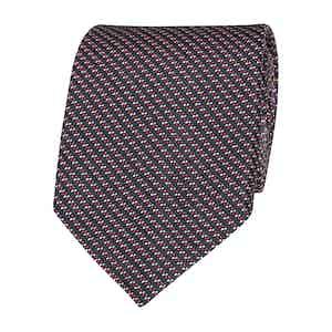Midnight Pixel Silk Tie