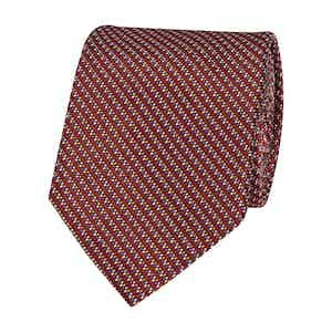 Claret Pixel Silk Tie
