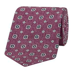 Rose Pink Diamond Patterned Silk Tie
