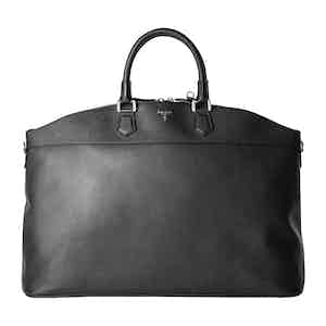 Black Cachemire Leather Leisure 14 East/West Tote Bag